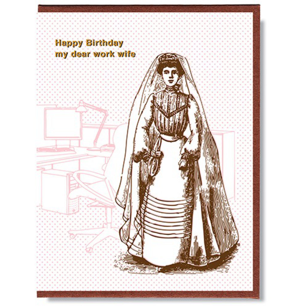 Work Wife Birthday Card
