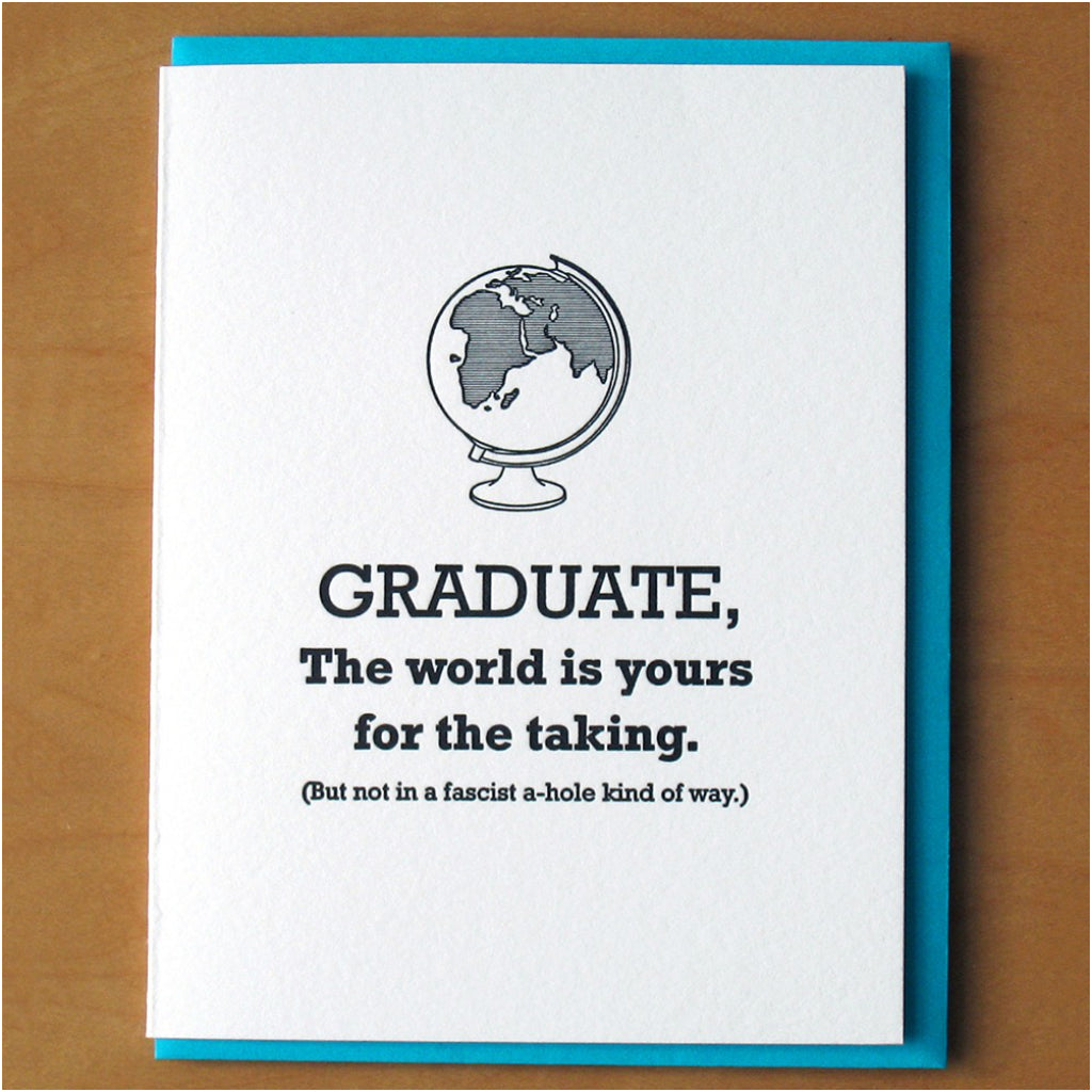 World Is Yours Graduate Card