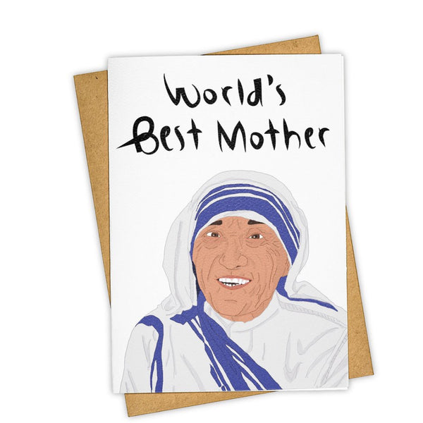 World's Best Mother Teresa Card