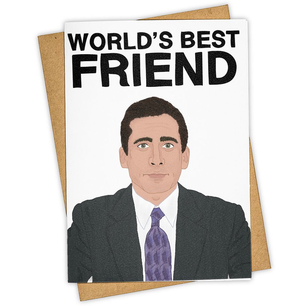 World's Best Friend The Office Card