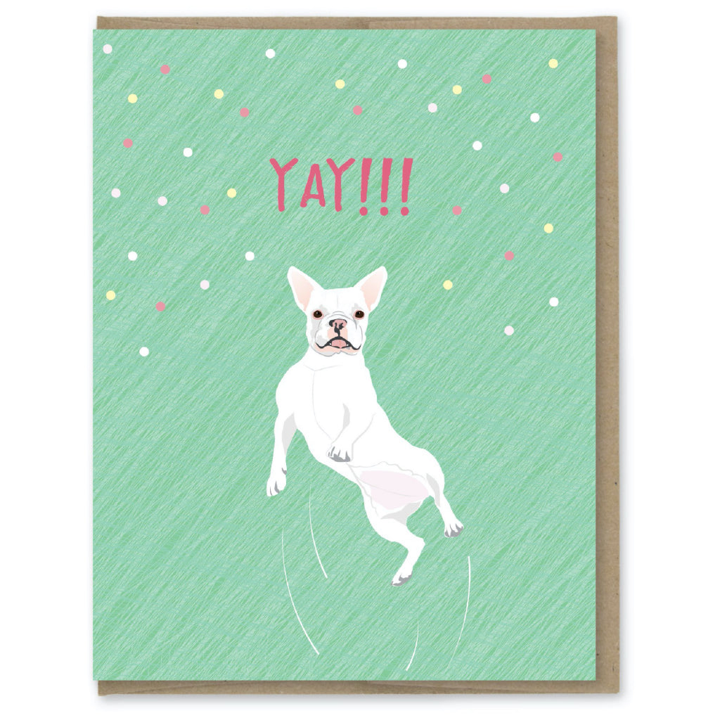 Yay French Bulldog Card