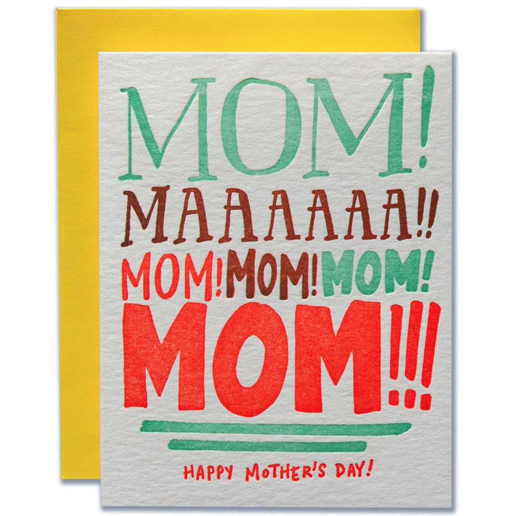Yelling Mom Card