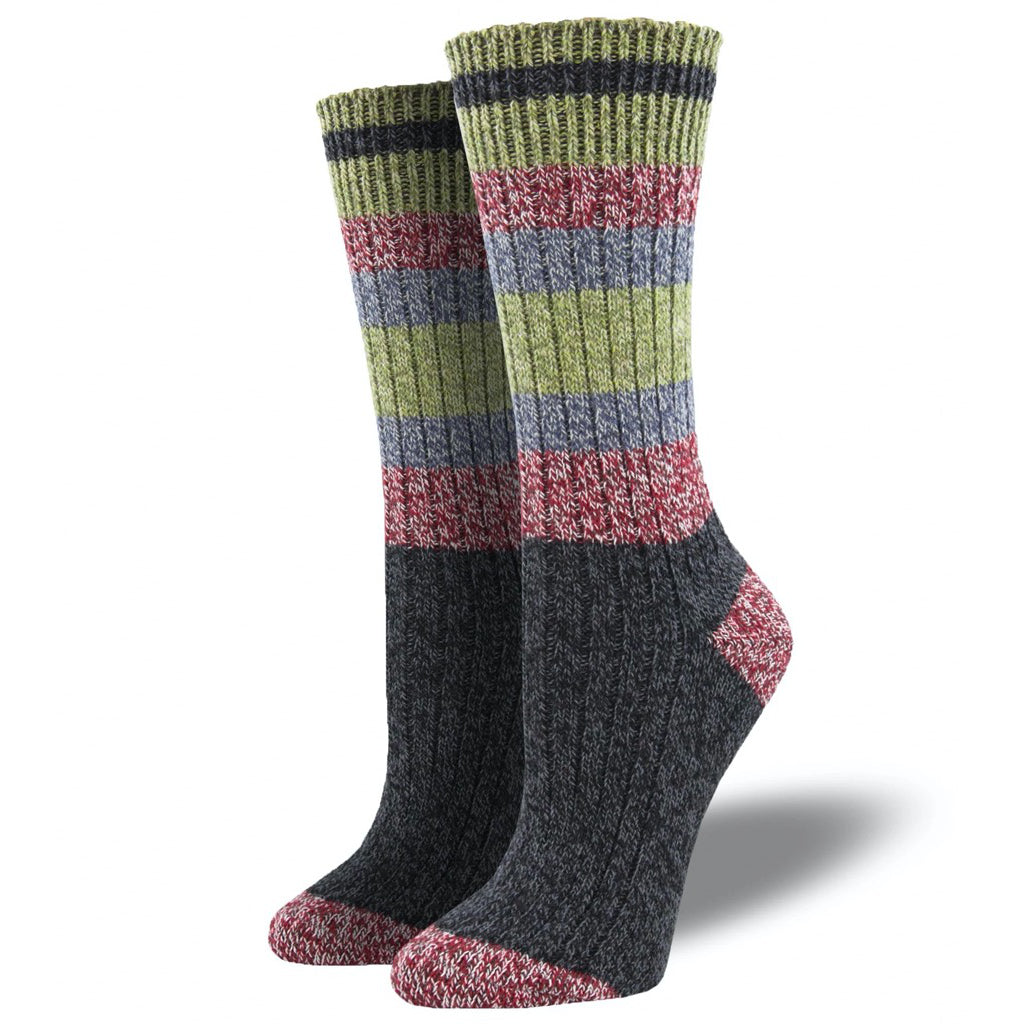Yosemite Charcoal Cabin Socks Small