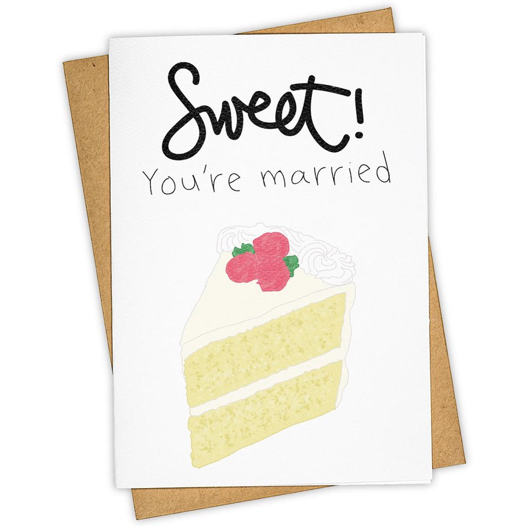 You're Married Cake Slice Card