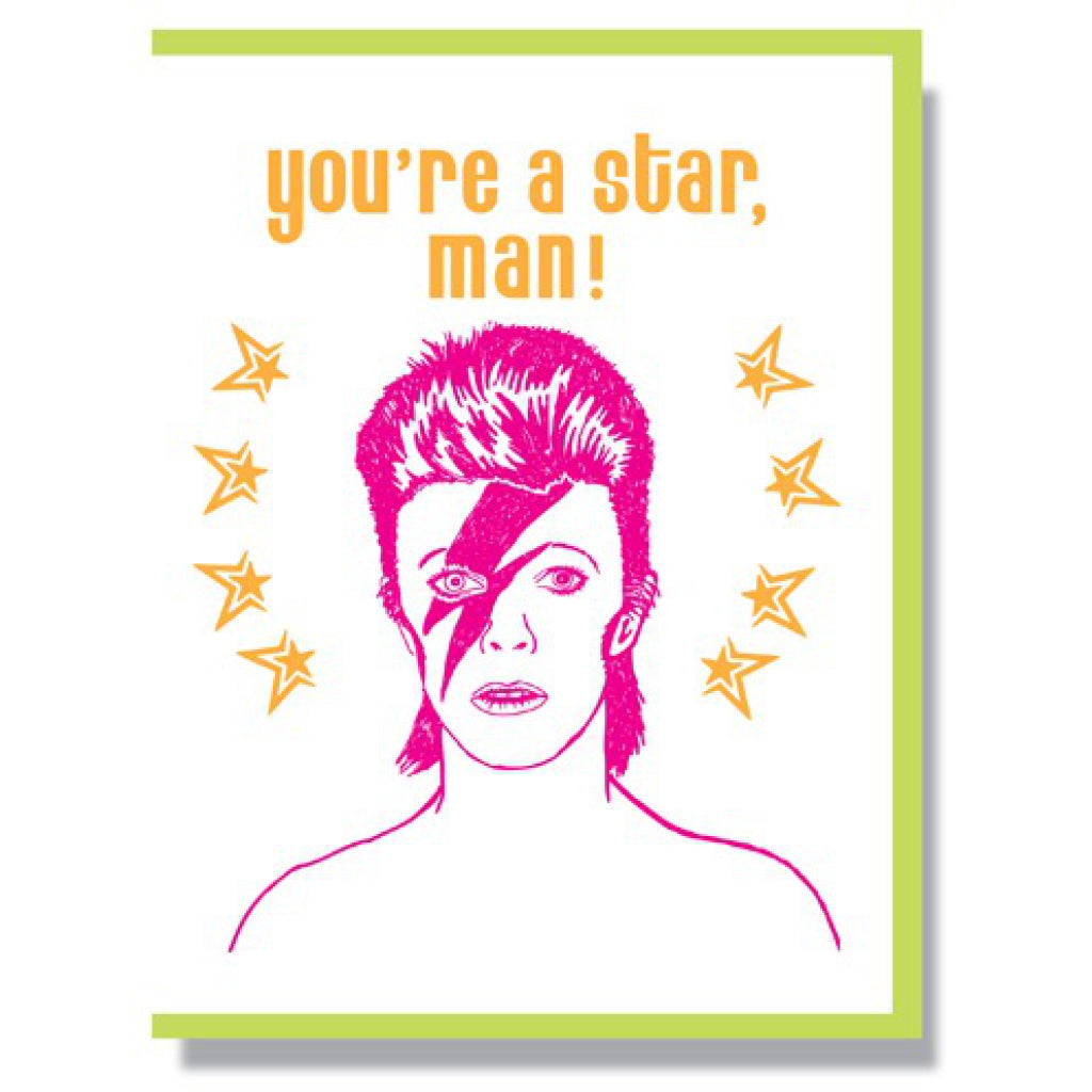 You're A Star David Bowie Card