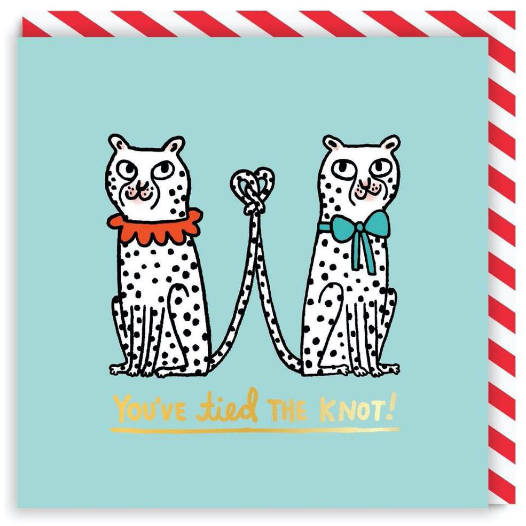 You've Tied The Knot Leopards Wedding Card