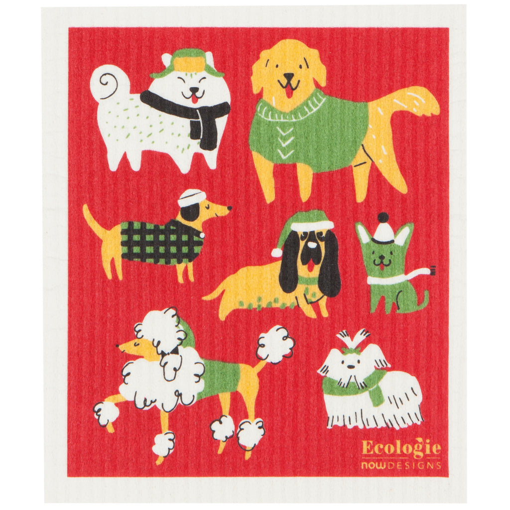 Yule Dogs Swedish Dishcloth