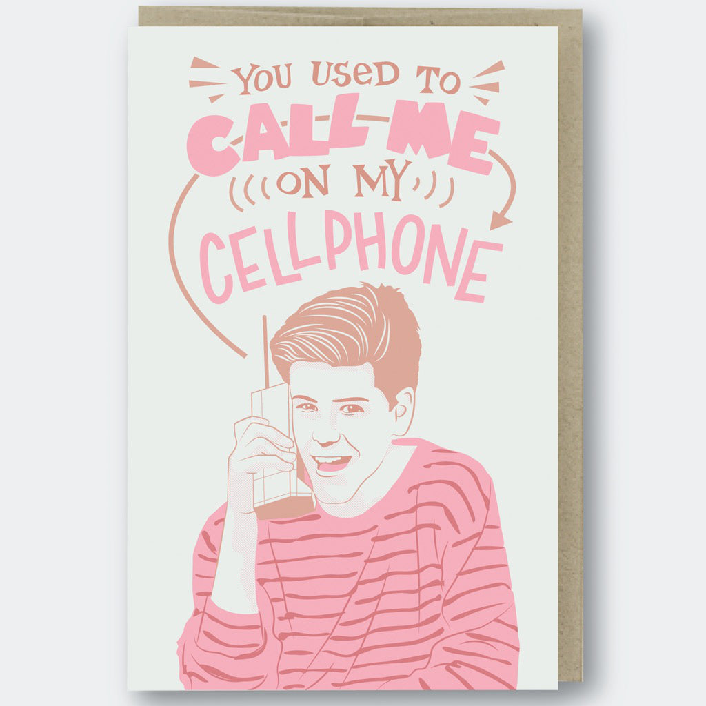 Zack Morris Cell Phone Card
