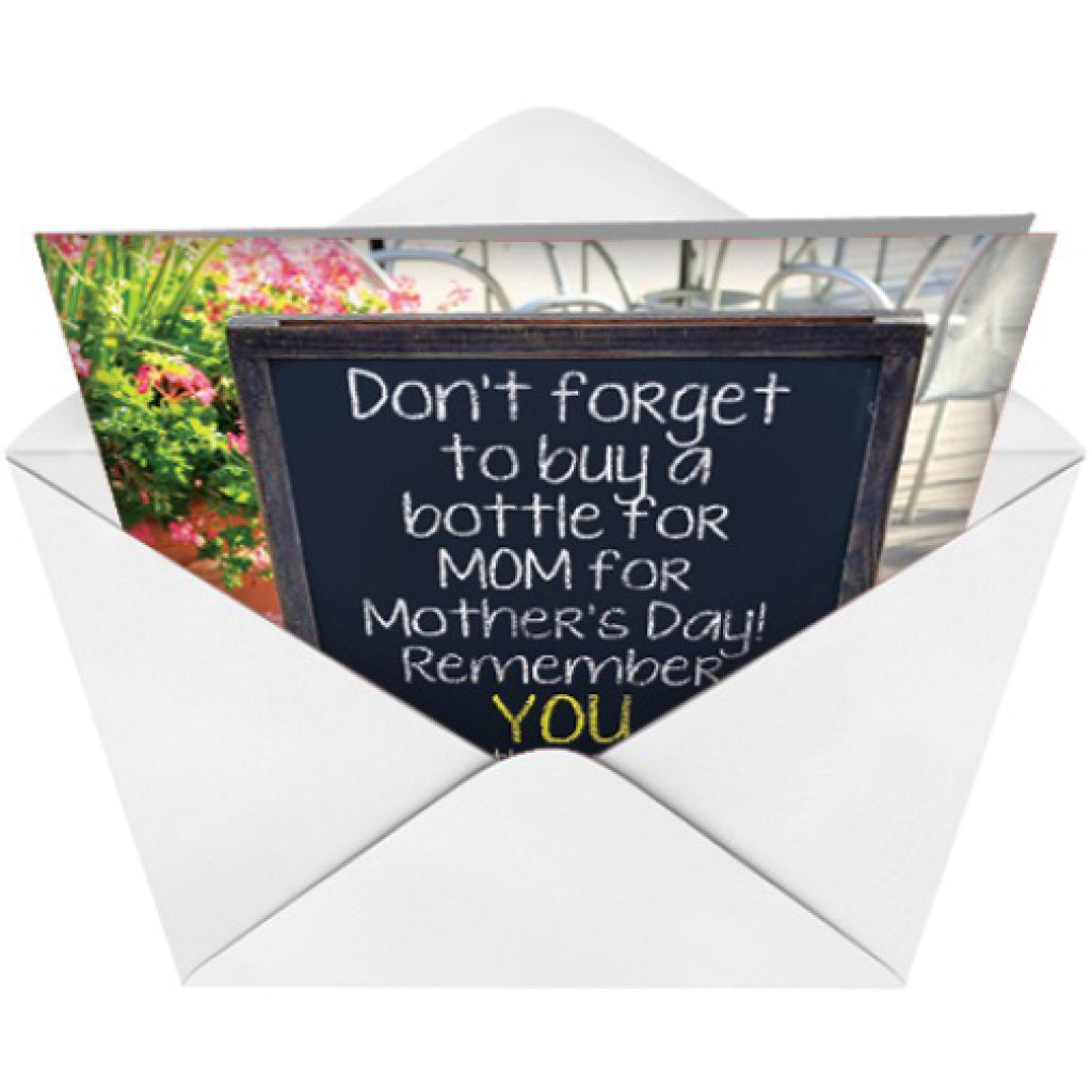 A Bottle For Mom Card envelope