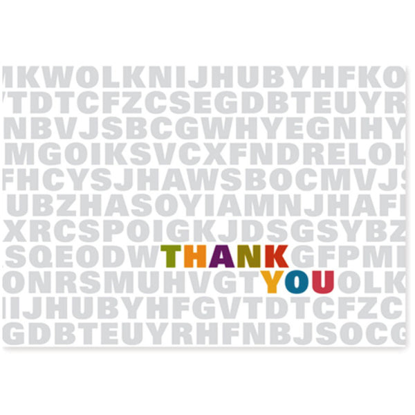 Alphabet Soup Thank You Cards