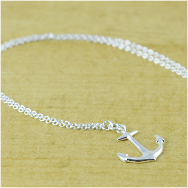 Anchor Necklace Sterling Silver Polished