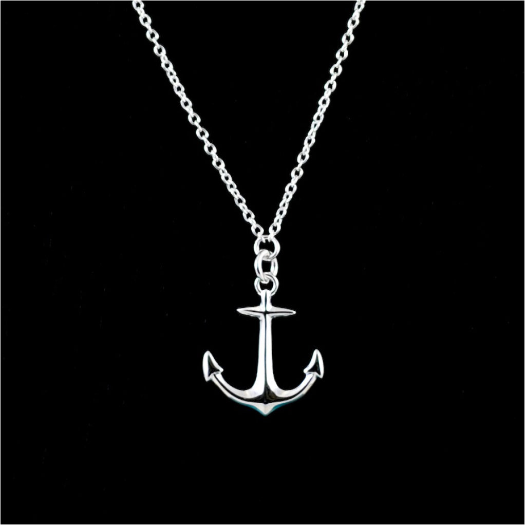 Anchor Necklace Sterling Silver Polished product