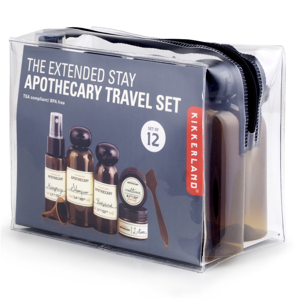 e4810b5c01b4 Apothecary Travel Set Extended Stay | Kikkerland Cosmetic Containers ...