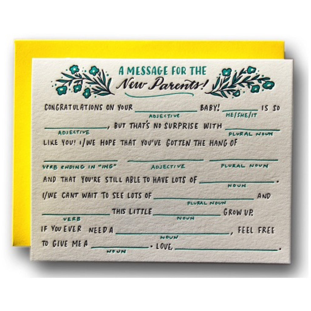 Baby Fill In The Blanks Card
