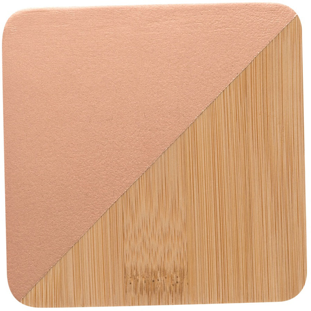Bamboo Angle Dipped Coasters Copper Set of 4 product