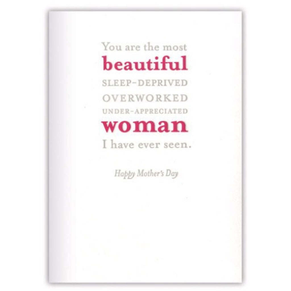 Beautiful Woman Mothers Day Card