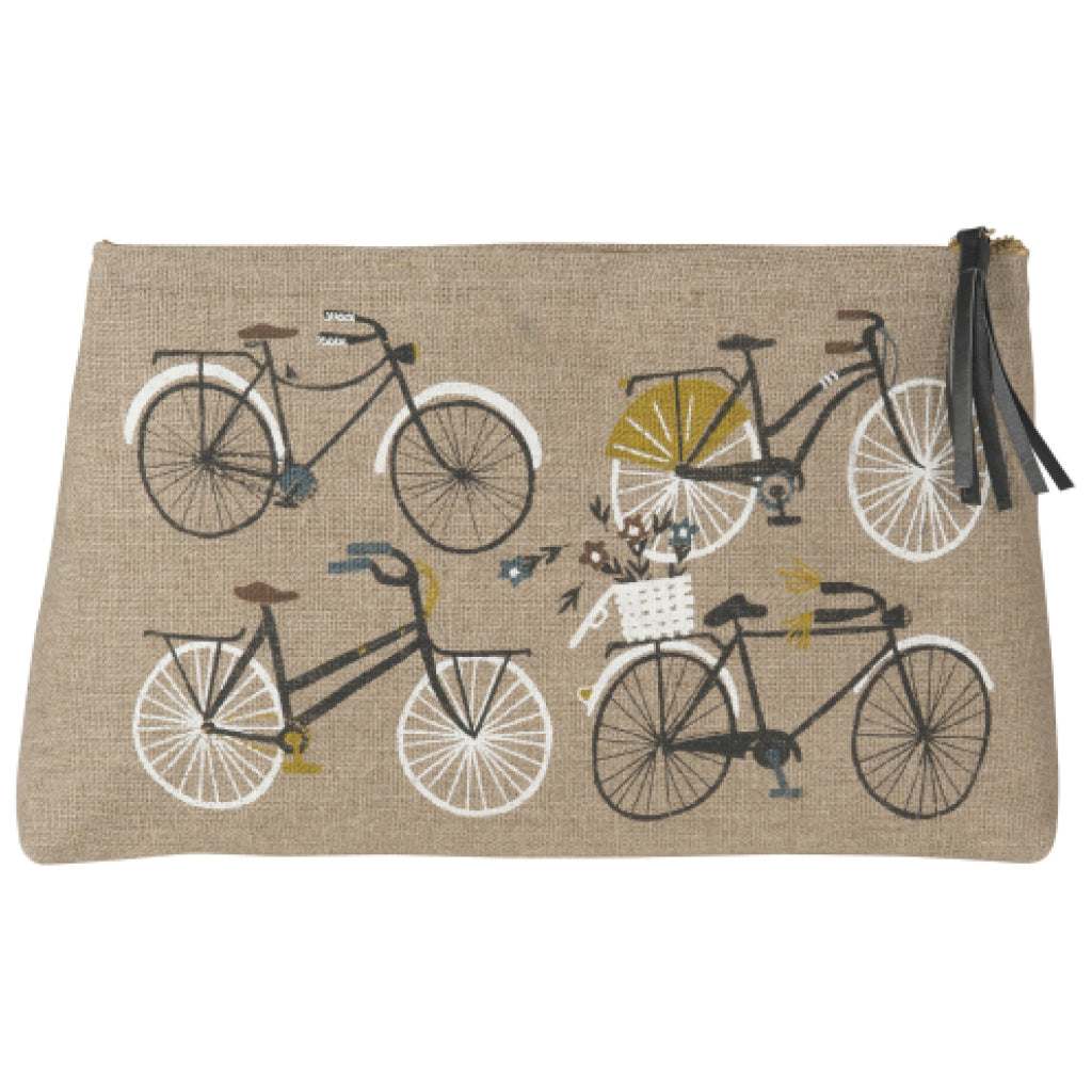 Bicicletta Linen Cosmetic Bag Large