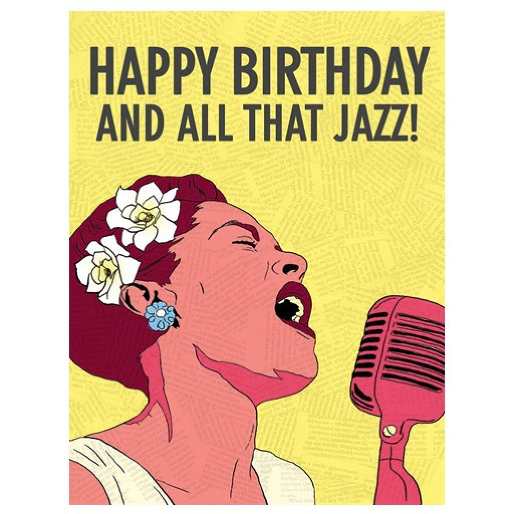 Billie Holiday Birthday Card