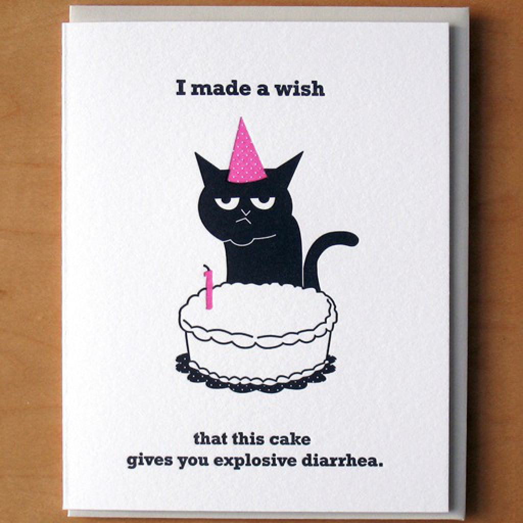 Birthday Cat Wish Card