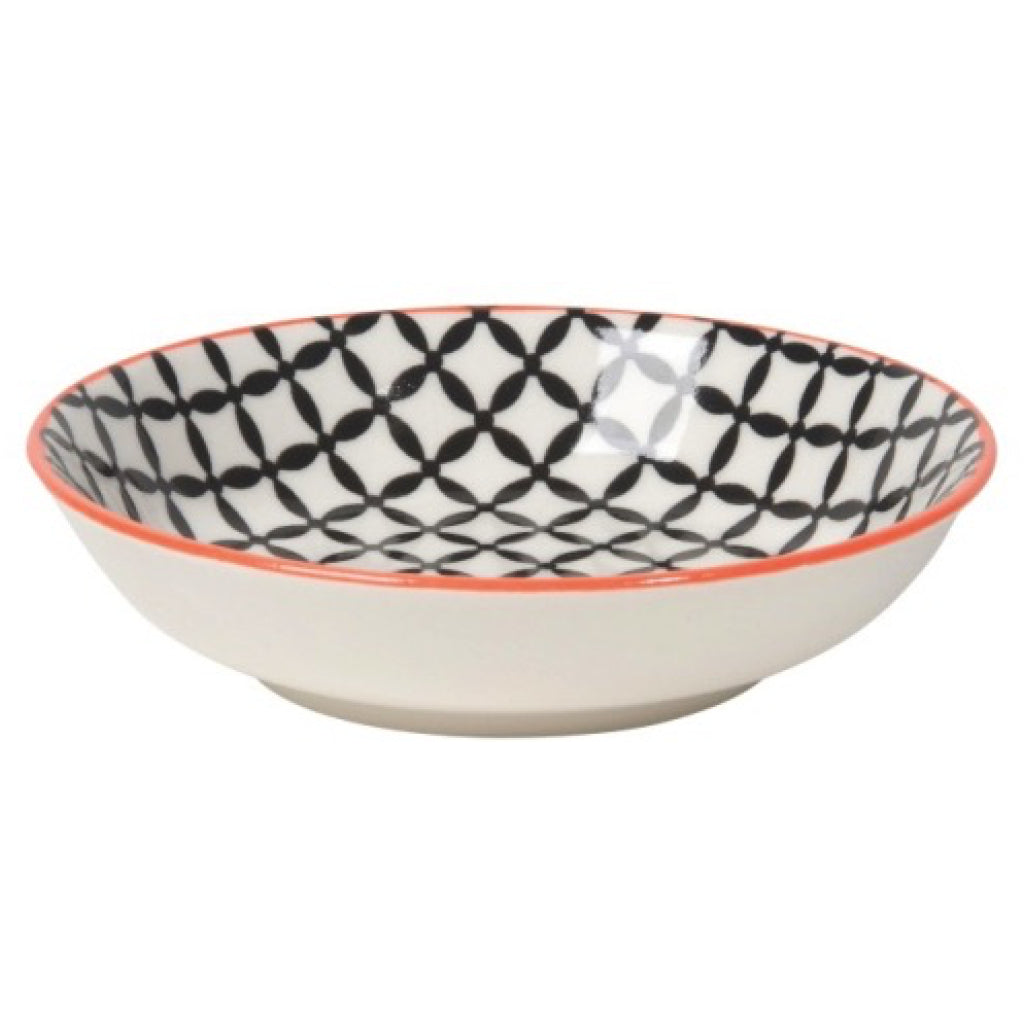Black Lattice Dip Bowl