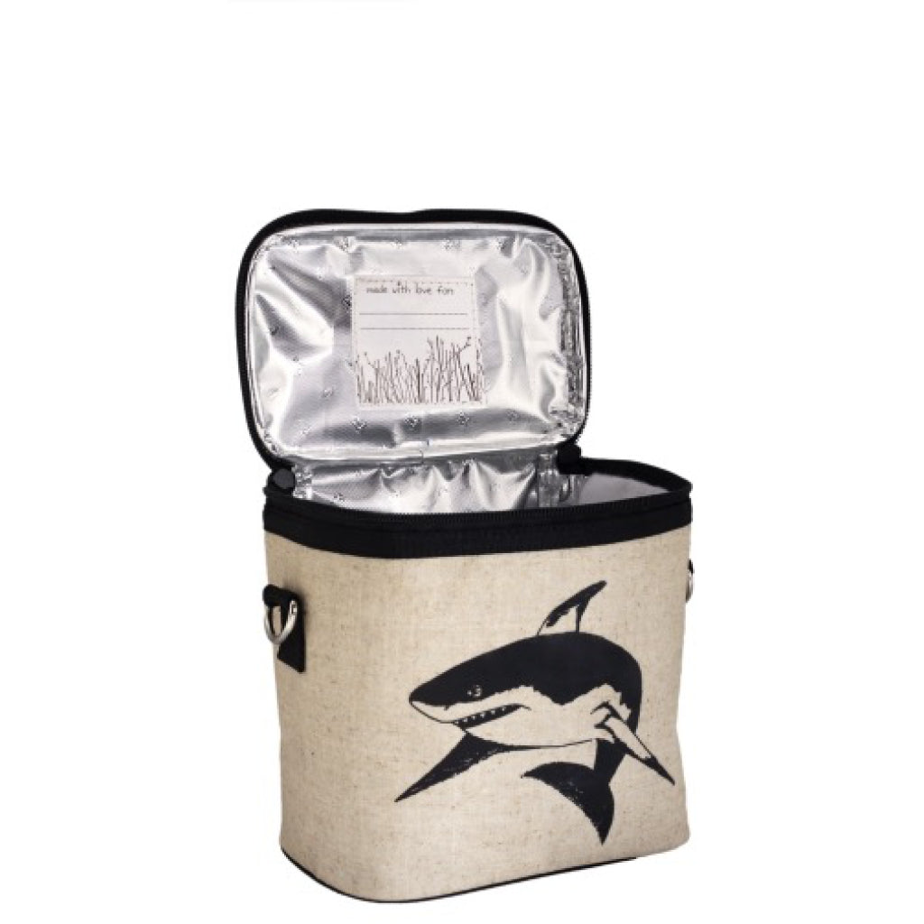 Black Shark Small Cooler Bag open