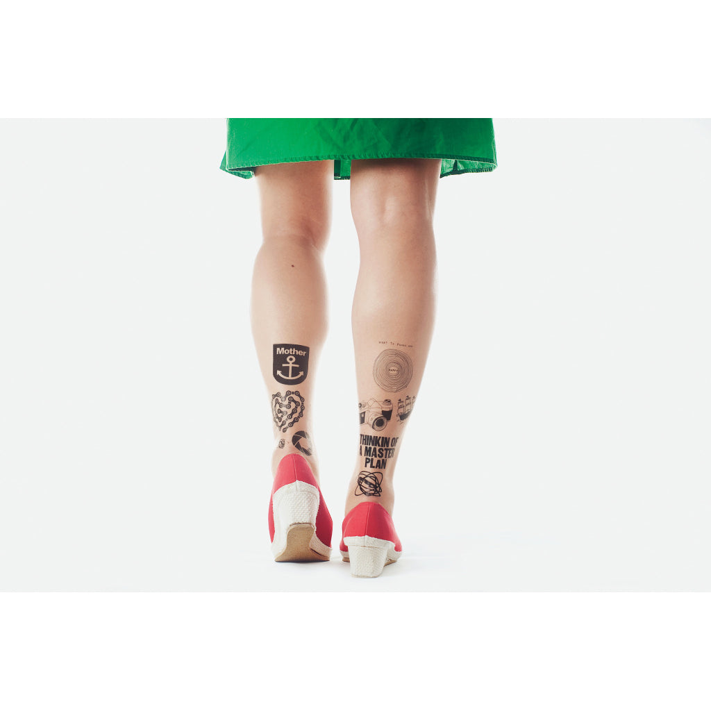 Black Temporary Tattoo Set