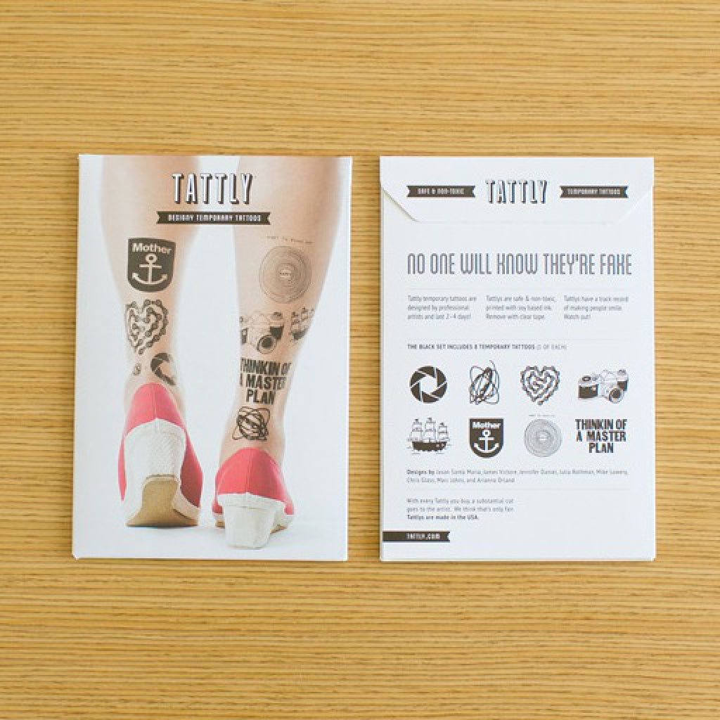 Black Temporary Tattoo Set lifestyle shot