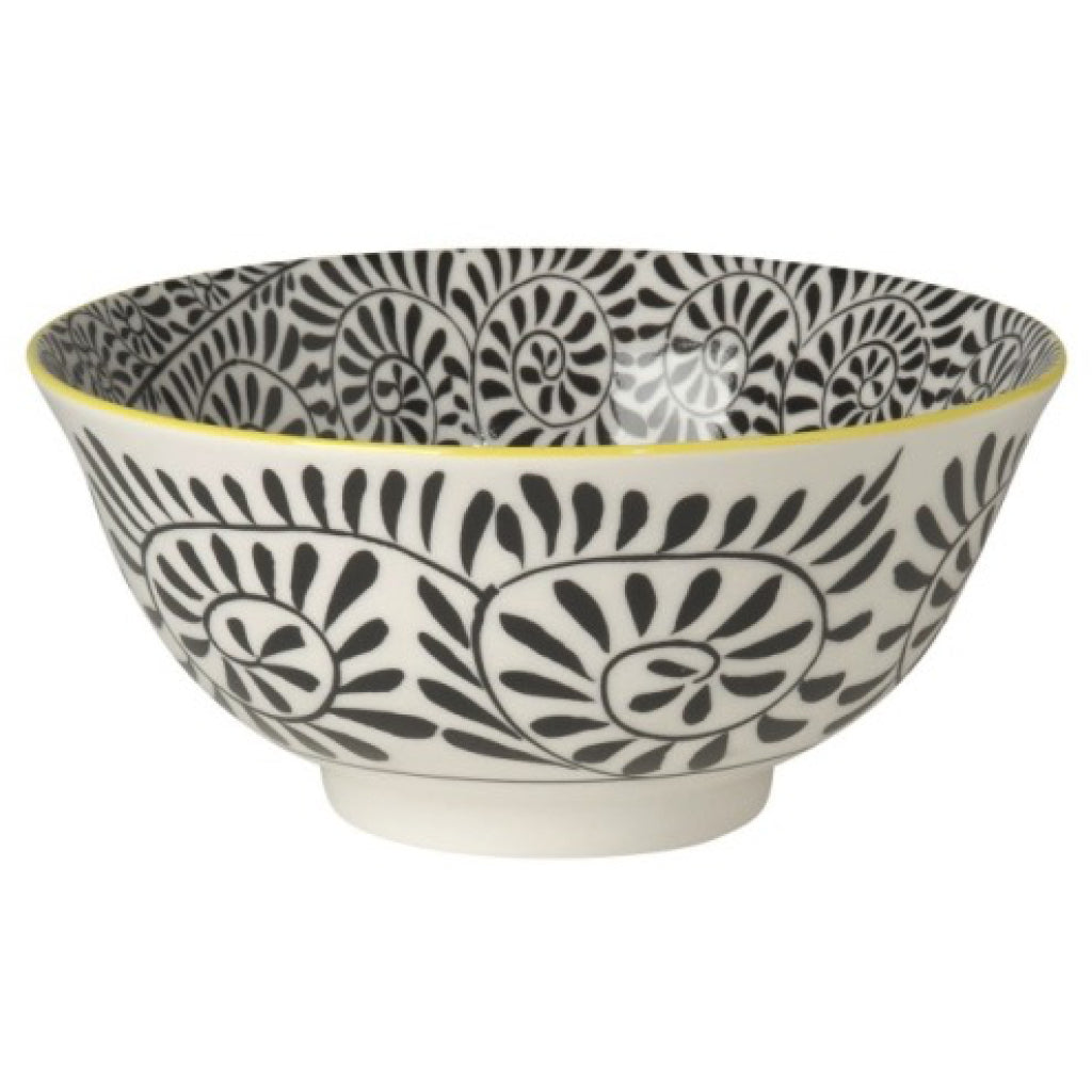 Black Vines Stamped Bowl