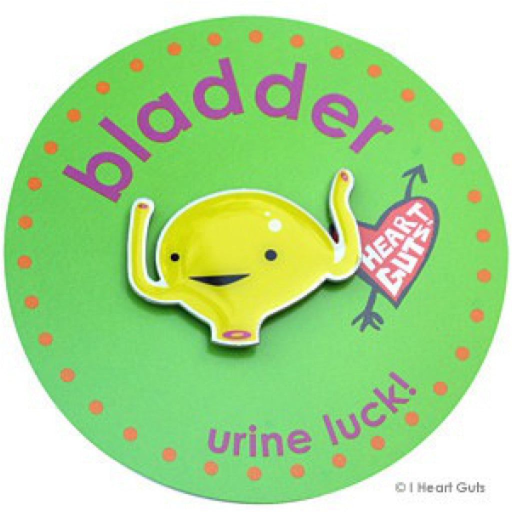 Bladder Lapel Pin package