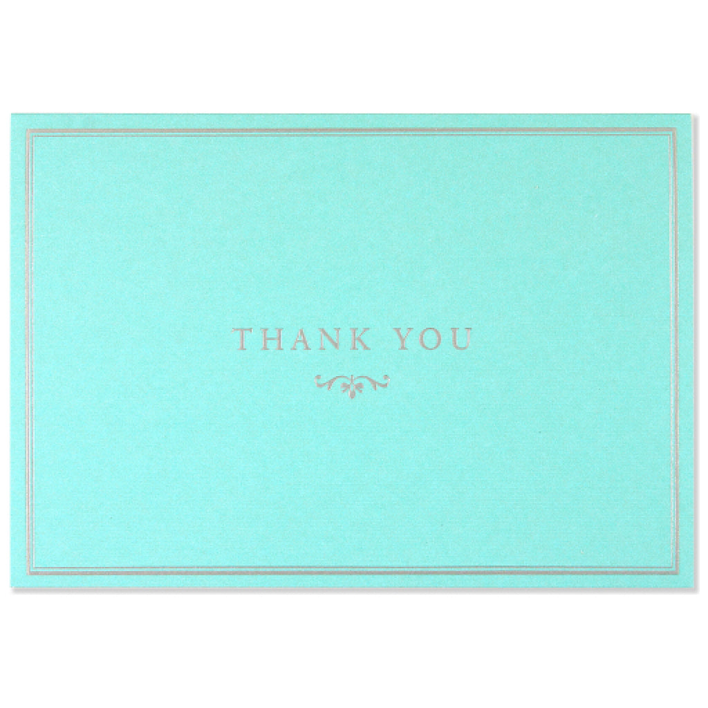 Blue Elegance Thank You Cards