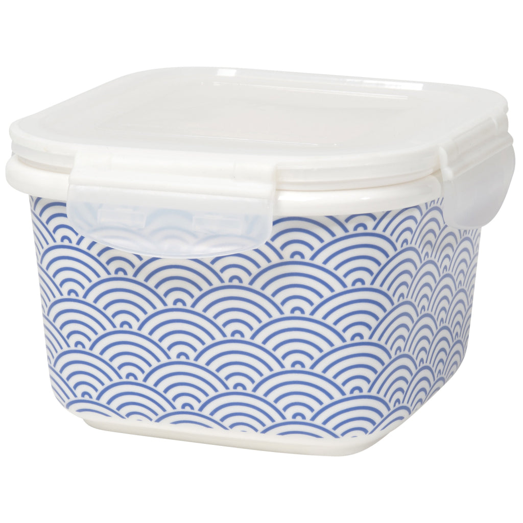 Blue Waves Snack n Serve Container 6 Inch