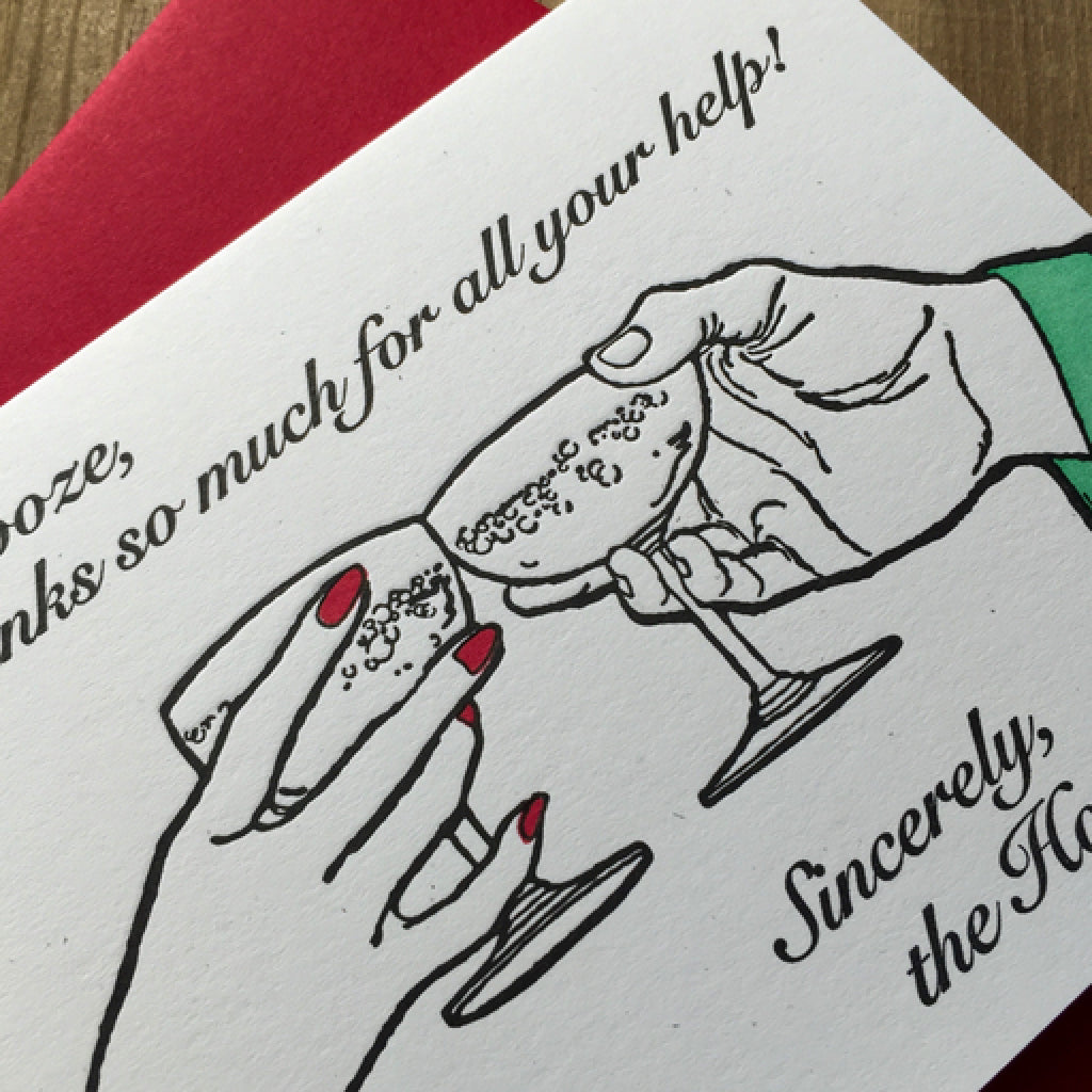 Boozy Holidays Card angle