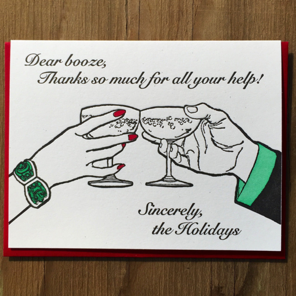 Boozy Holidays Card