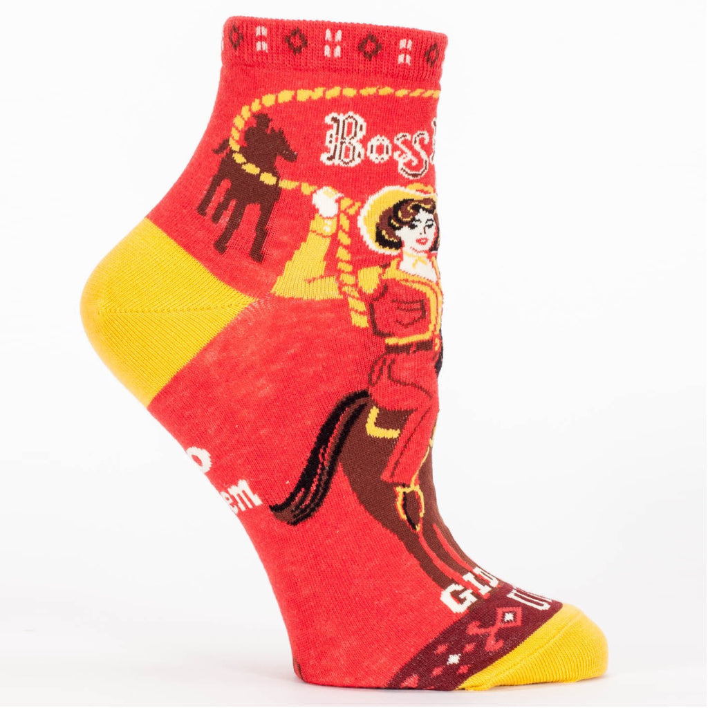 Boss Lady Ankle Socks side