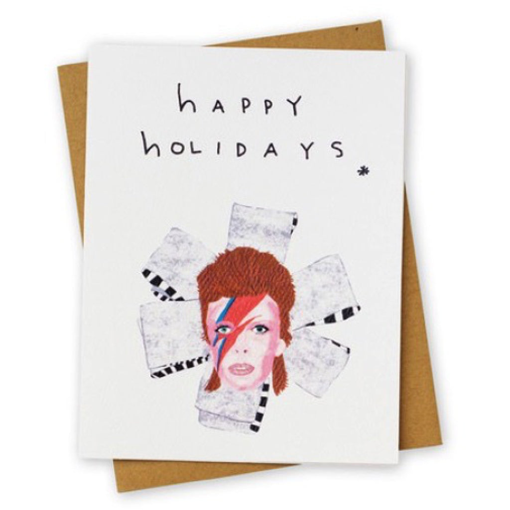 Bowie Happy Holidays Card
