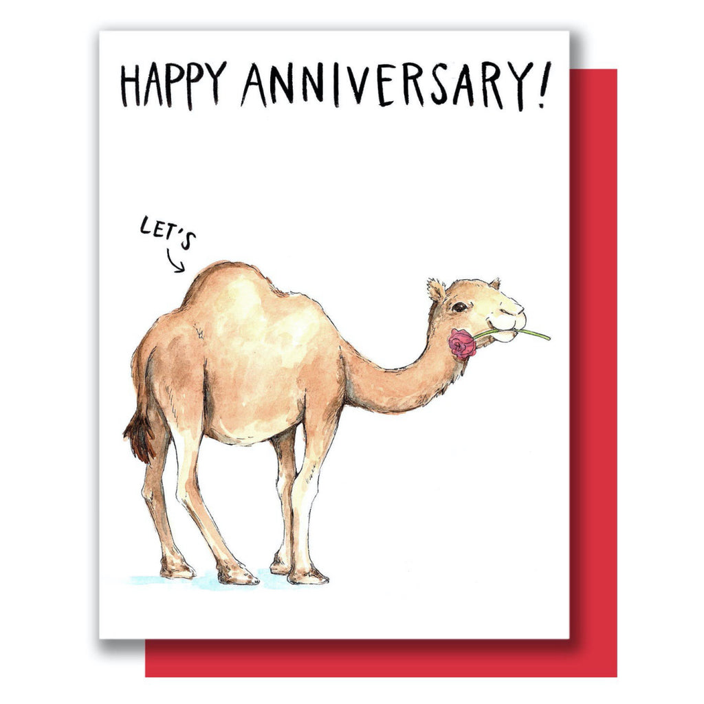 Camel Humps Anniversary Card