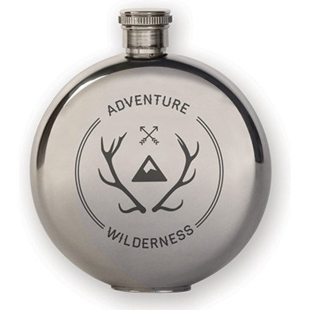Canteen Flask Adventure Wilderness 3oz.