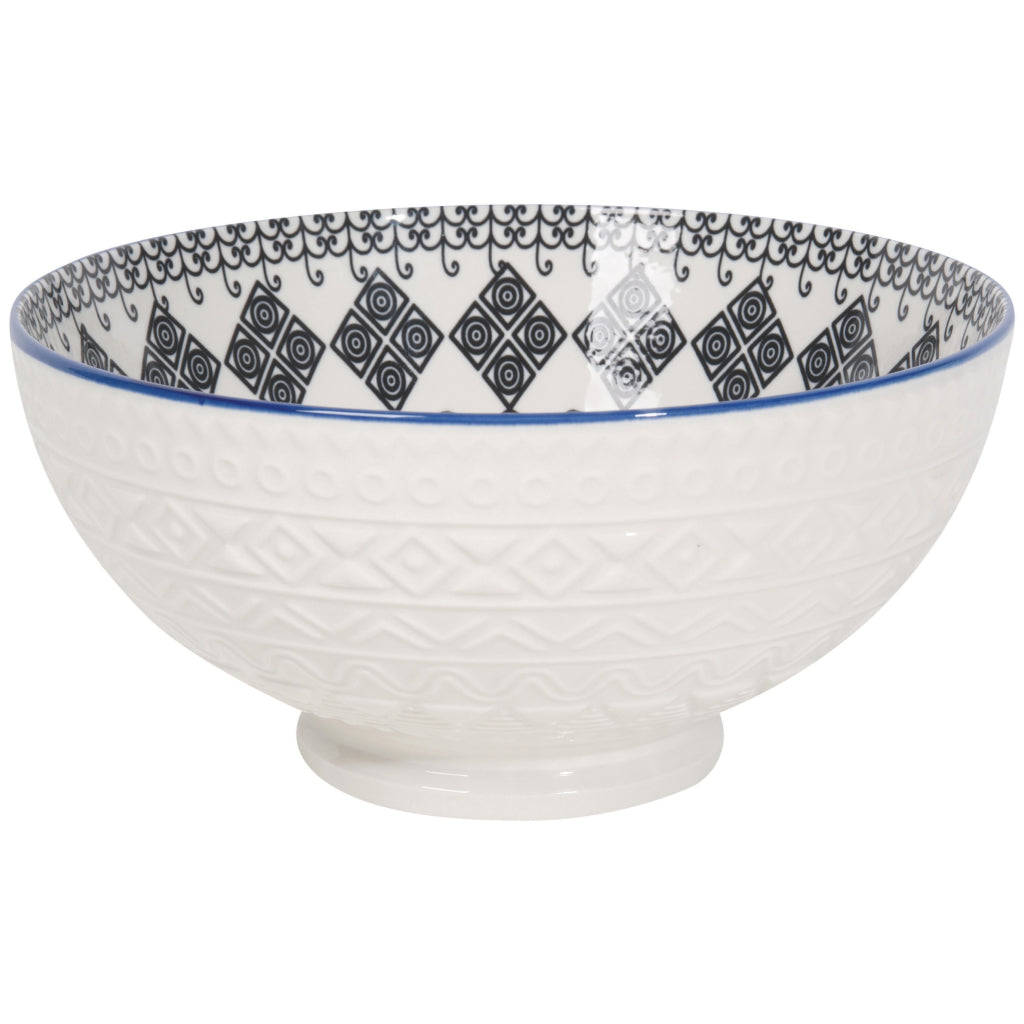 Casablanca Embossed Serving Bowl 8 Inch