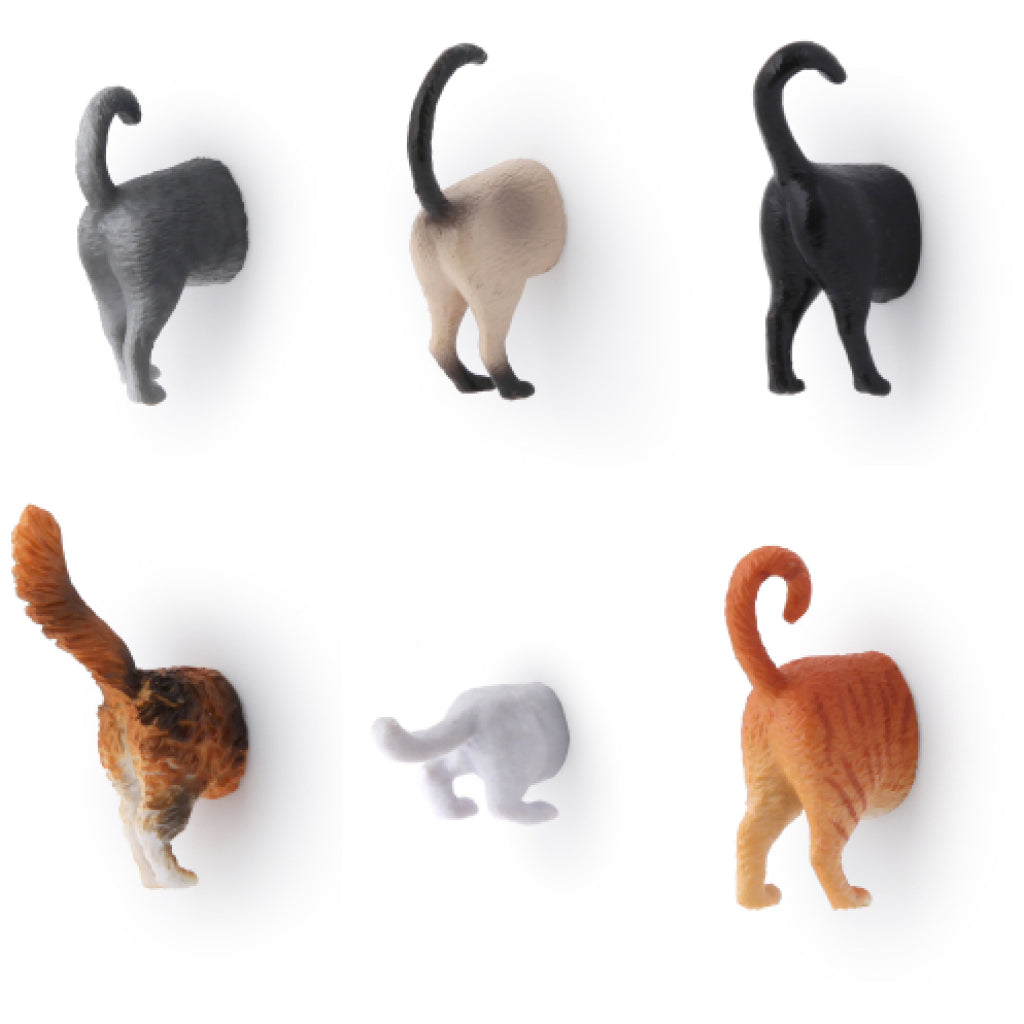 Cat Butt Magnets Set Of 6