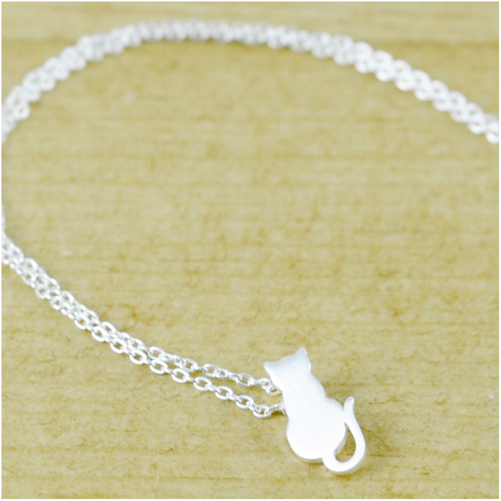 Cat Necklace Brushed