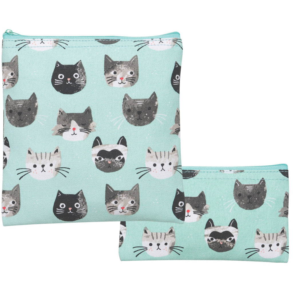 Cats Meow Snack Bags Set of 2