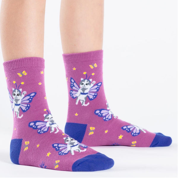 Catterfly Junior Crew Socks