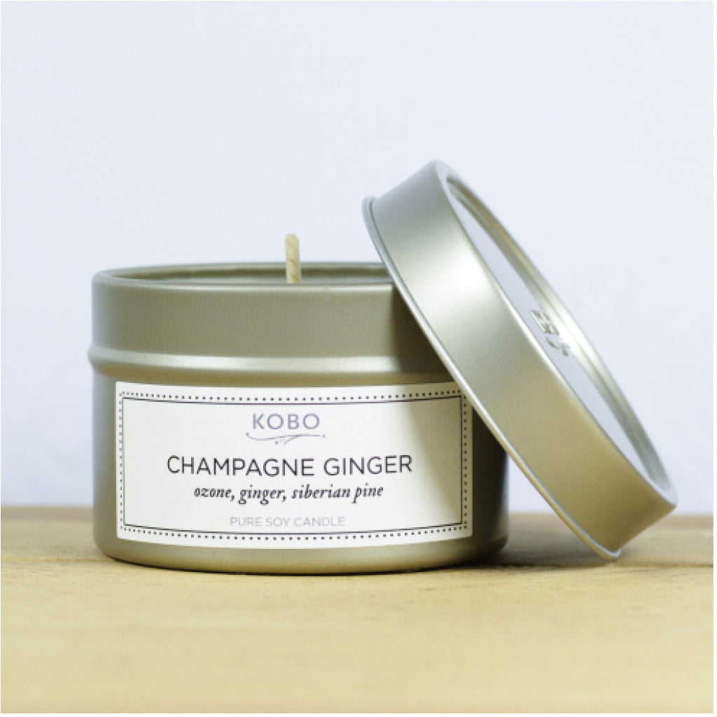Champagne Ginger Travel Candle front 2