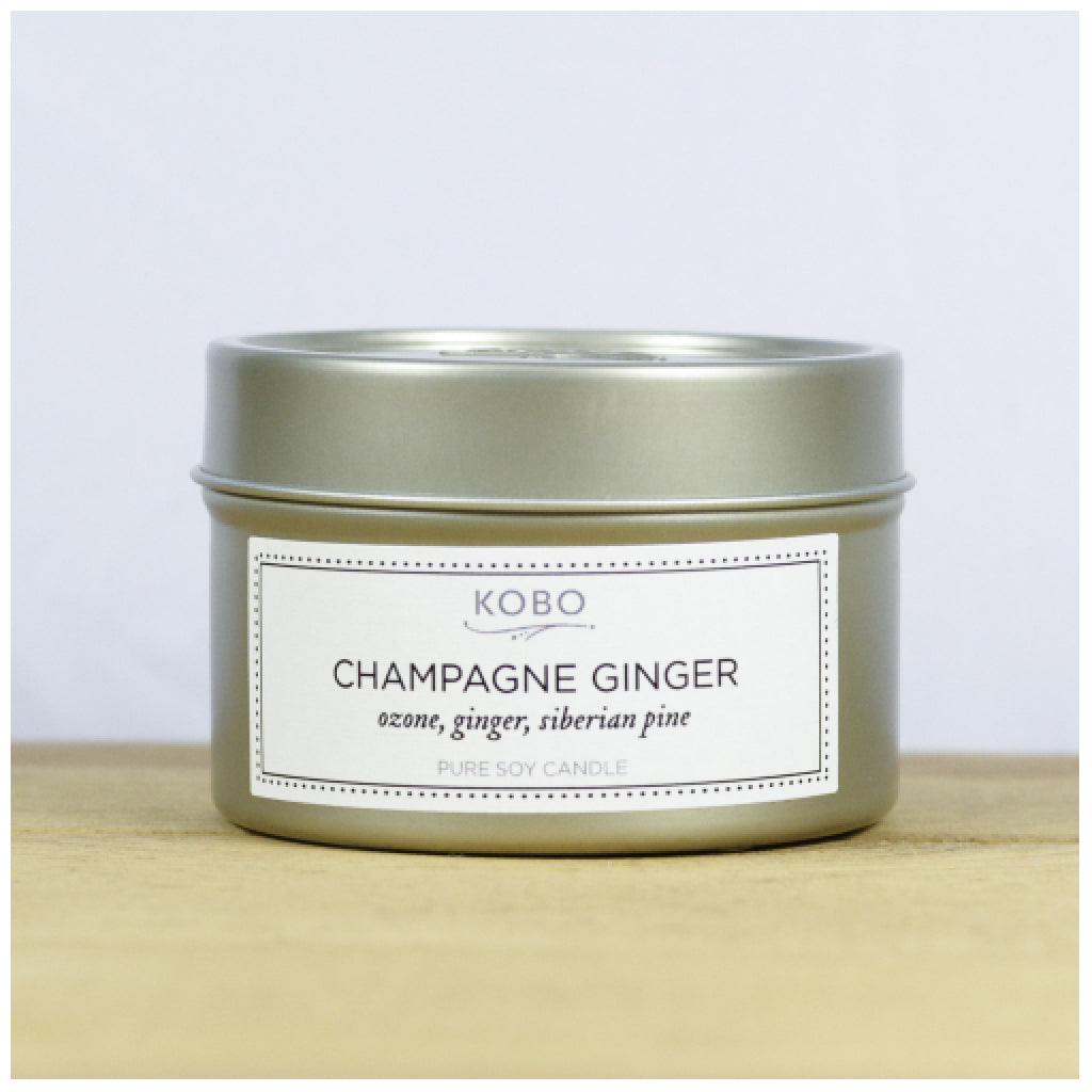 Champagne Ginger Travel Candle front