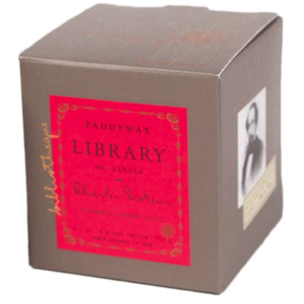 Charles Dickens Library Candle box