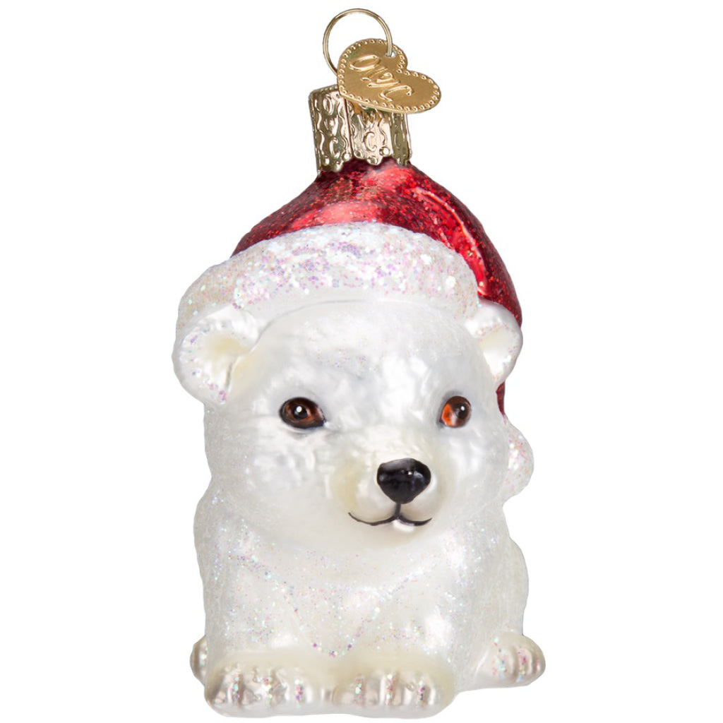 Christmas Polar Bear Ornament front