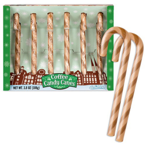 Coffee Candy Canes Set of 6