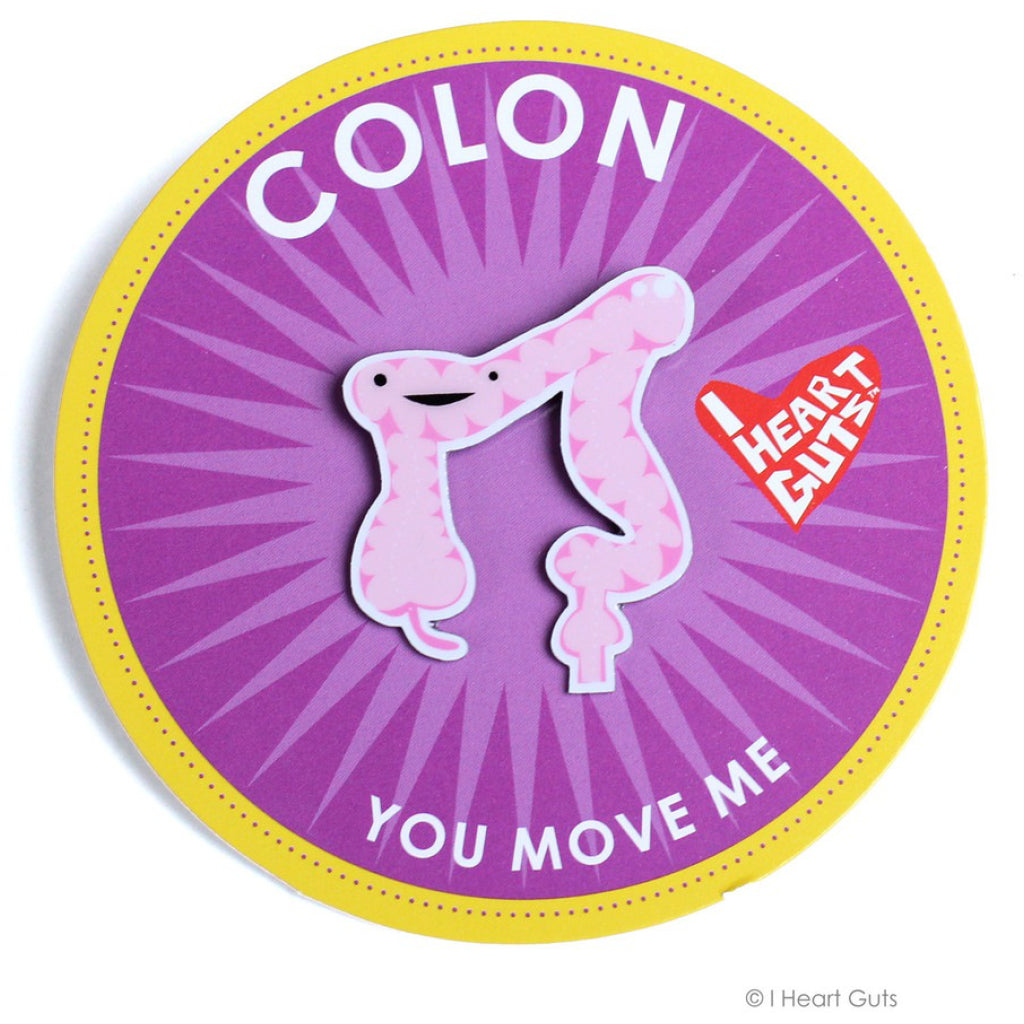 Colon Lapel Pin package