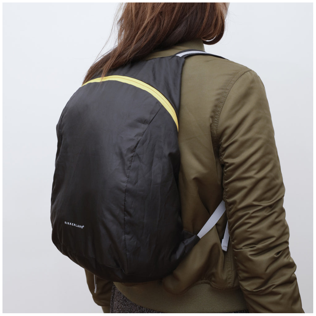 Compact Backpack Black action
