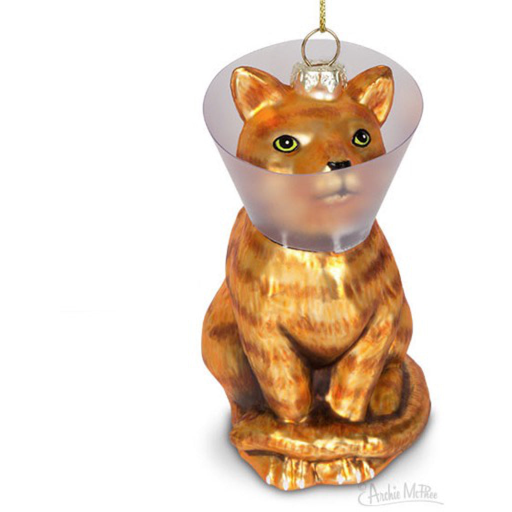 Cone Kitty Glass Ornament